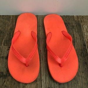 Cat & jack orange flip flops